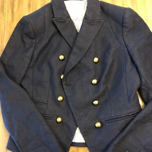 Women's BR blazer, Navy with Gold Buttons